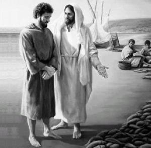 Peter is restored after having denied his Lord.